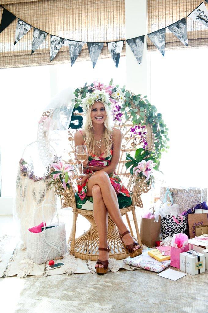 Tropical Bridal Shower Ideas Peacock Chair