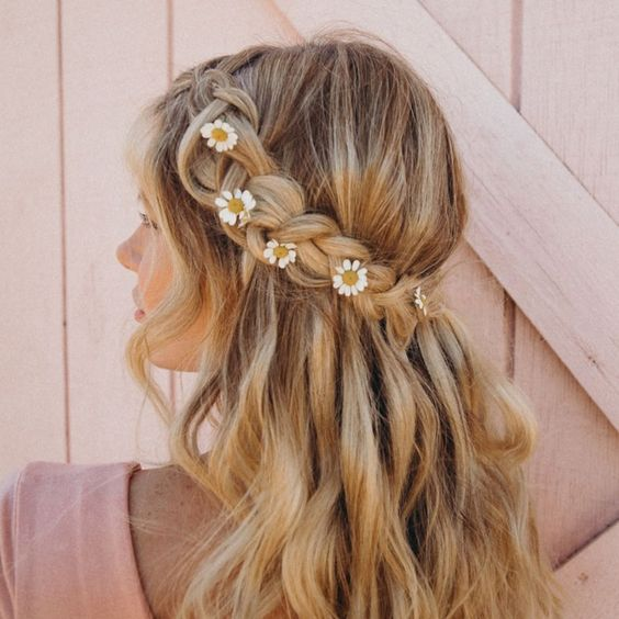 Braided Hairstyles 5 Ideas For Your Wedding Look: Half Up Half Down Bridal Hair Ideas To Copy Now