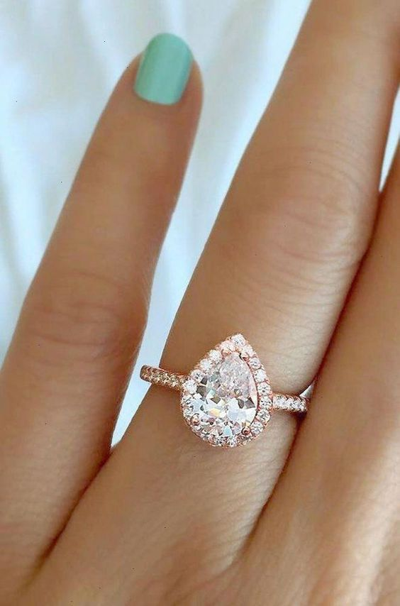 Pear Shaped Engagement Rings 20 Ideas 💖 My Sweet Engagement