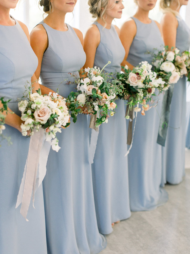 Dusty Blue Bridesmaid Dresses Are Trending My Sweet Engagement