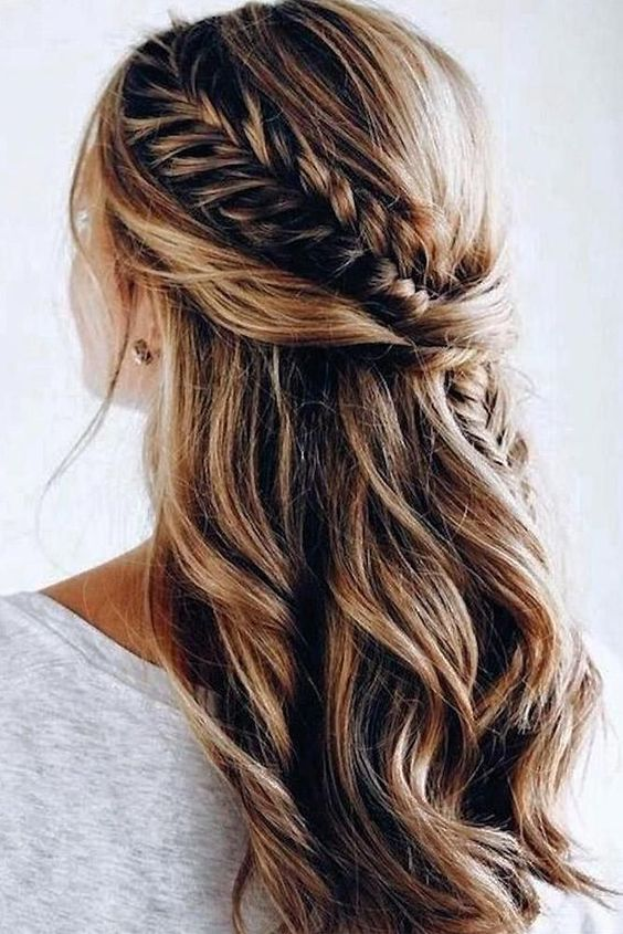 Half Up Half Down Bridal Hair Ideas To Copy Now My Sweet