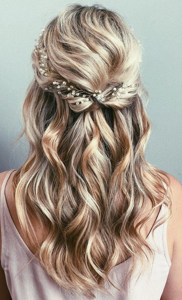 half up half down bridal hair ideas to copy now | my sweet