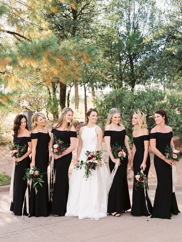 20+ Utterly Chic Black Bridesmaid Dress Ideas